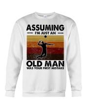 Assuming I'm Just An Old Man Volleyball Crewneck Sweatshirt thumbnail