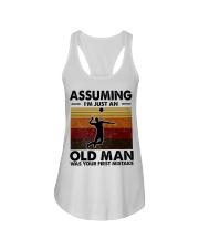 Assuming I'm Just An Old Man Volleyball Ladies Flowy Tank thumbnail