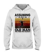 Assuming I'm Just An Old Man Volleyball Hooded Sweatshirt thumbnail