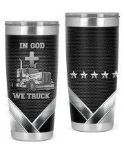 Trucker in god we truck tumbler  20oz Tumbler front