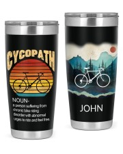 Cycling Cycopath Personalized  20oz Tumbler front