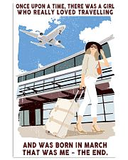 March Girl Loves Travelling 24x36 Poster front