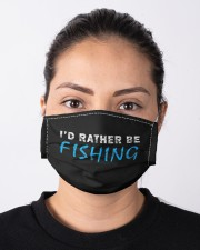 I'd rather be fishing funny novelty gift  Cloth face mask aos-face-mask-lifestyle-01