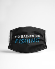 I'd rather be fishing funny novelty gift  Cloth face mask aos-face-mask-lifestyle-22