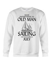 Never Underestimate Old Man Loves SailingJuly Crewneck Sweatshirt thumbnail