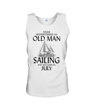 Never Underestimate Old Man Loves SailingJuly Unisex Tank thumbnail