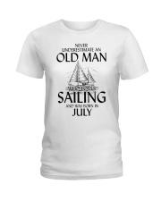 Never Underestimate Old Man Loves SailingJuly Ladies T-Shirt thumbnail