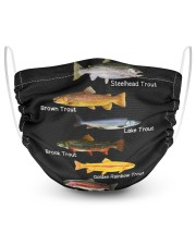 Fish Collection Fishing 2 Layer Face Mask - Single front