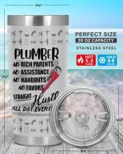 Plumber Straight Hustle Personalized 20oz Tumbler aos-20oz-tumbler-lifestyle-front-47