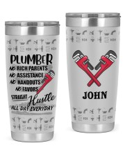 Plumber Straight Hustle Personalized 20oz Tumbler front