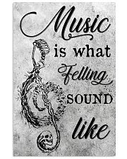 Music Is What Feelings Sound Like Skull 16x24 Poster front