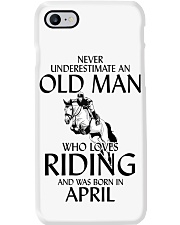 Old Man Who Loves Riding And Was Born April Phone Case thumbnail