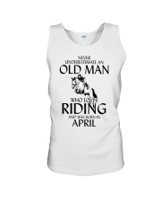 Old Man Who Loves Riding And Was Born April Unisex Tank thumbnail