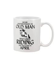 Old Man Who Loves Riding And Was Born April Mug thumbnail