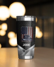 Amerian Truck Driver -To my husband from wife 20oz Tumbler aos-20oz-tumbler-lifestyle-front-04