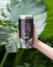 Amerian Truck Driver -To my husband from wife 20oz Tumbler aos-20oz-tumbler-lifestyle-front-13