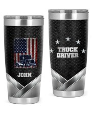 Amerian Truck Driver -To my husband from wife 20oz Tumbler front