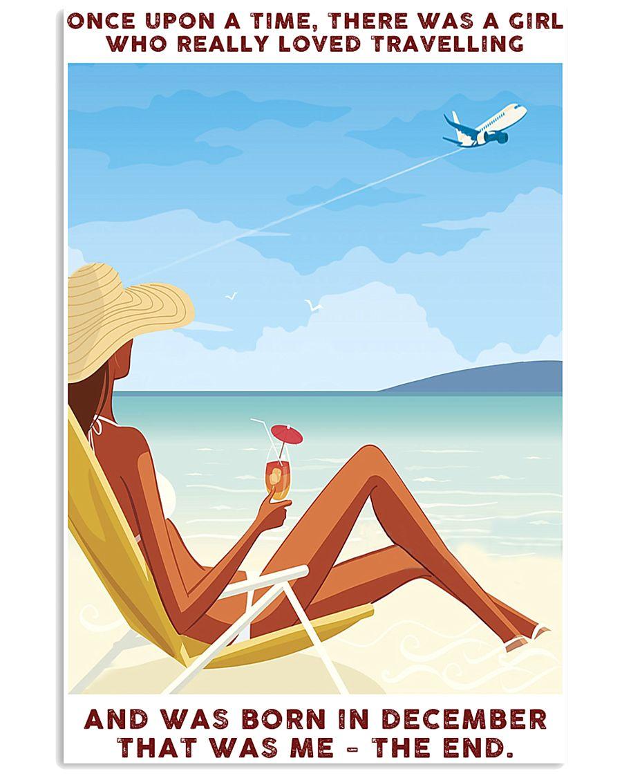 Girl Loved Travelling Born In December 24x36 Poster