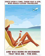 Girl Loved Travelling Born In December 24x36 Poster front