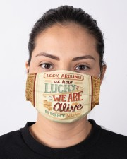Look Around At Hour Lucky We Are Alive Right Now Cloth face mask aos-face-mask-lifestyle-01