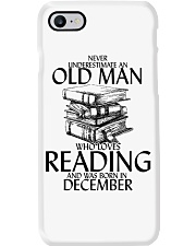 Never Underestimate Old Man Reading December Phone Case thumbnail