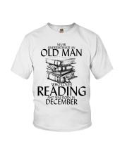 Never Underestimate Old Man Reading December Youth T-Shirt thumbnail