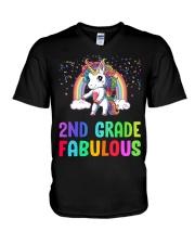 2nd Grade Fabulous V-Neck T-Shirt tile