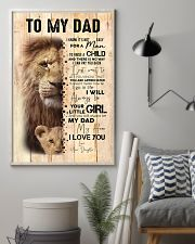 To My Dad From Daughter Lion 24x36 Poster lifestyle-poster-1