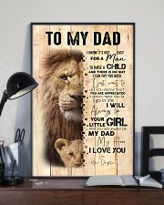 To My Dad From Daughter Lion 24x36 Poster lifestyle-poster-2