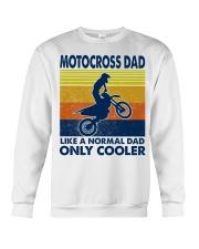 motocross Dad Like A Normal Dad Only Cooler Crewneck Sweatshirt tile