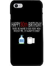 80th Birthday 80 Year Old Phone Case tile