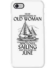 Never Underestimate Old Woman Sailing June Phone Case thumbnail