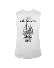 Never Underestimate Old Woman Sailing June Sleeveless Tee thumbnail