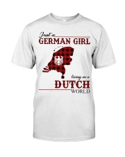 Just A German Girl In Dutch World Classic T-Shirt front
