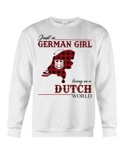 Just A German Girl In Dutch World Crewneck Sweatshirt thumbnail