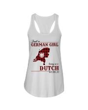 Just A German Girl In Dutch World Ladies Flowy Tank thumbnail