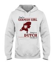 Just A German Girl In Dutch World Hooded Sweatshirt thumbnail