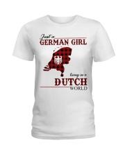 Just A German Girl In Dutch World Ladies T-Shirt thumbnail