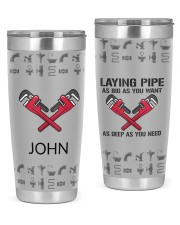Plumber Laying Pipe Personalized Christmas Gift 20oz Tumbler front