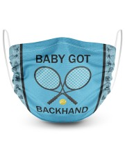 Baby Got Backhand 2 Layer Face Mask - Single front