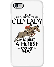Never Underestimate Old Lady Rides Horse May Phone Case thumbnail