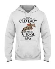 Never Underestimate Old Lady Rides Horse May Hooded Sweatshirt thumbnail