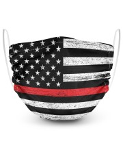 Firefighter Flag 2 Layer Face Mask - Single front