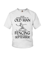 An Old Man Loves Fencing September Youth T-Shirt thumbnail