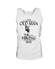 Never Underestimate Old Man Hiking May Unisex Tank thumbnail