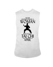 Never Underestimate Woman Tai Chi April Sleeveless Tee thumbnail