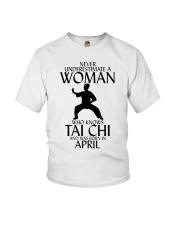Never Underestimate Woman Tai Chi April Youth T-Shirt thumbnail
