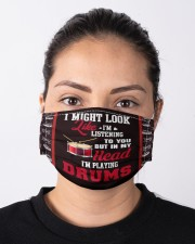 Listening To You But In My Head Im Playing Drums  Cloth face mask aos-face-mask-lifestyle-01
