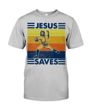 Baseball Jesus Saves Classic T-Shirt front