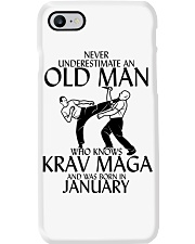 Never Underestimate Old Man Krav maga January Phone Case tile
